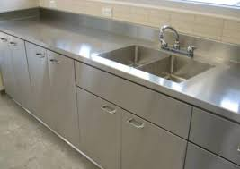 stainless steel countertop with built in sink stainless steel counter tops door styles accessories steelkitchen