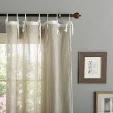 Pottery Barn Linen Curtains Tie Top Sheer Linen Curtains Best Curtains 2017 For Linen Drapes