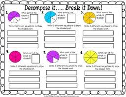 22 best decomposing fractions images on pinterest math fractions