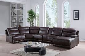 oleta top grain home theater sectional