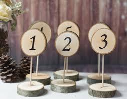 American Woodcrafters Supply 6 Standing Log Slice Table Numbers U2013 Gft Woodcraft