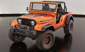 jeep wrangler v8 sema 2016 v8 powered jeep cj66 concept debuts