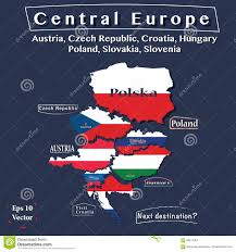 Map Of Central Europe by Politics Map Of Central Europe Austria Czech Republic Hungary