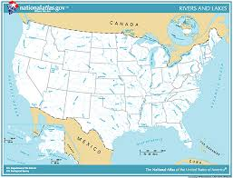 america map with rivers printable maps reference