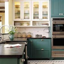 Two Colour Kitchen Cabinets Great Painted Kitchen Cabinets Two Different Colors 29 For Your