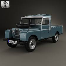 range rover defender pickup land rover series i 107 pickup 1958 3d model hum3d