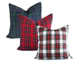 plaid vs tartan plaid christmas pillows green and red plaid pillow cover created