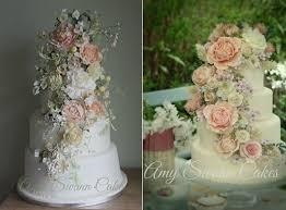 wedding cake flower tumbling trailing sugar flowers cake magazine cake