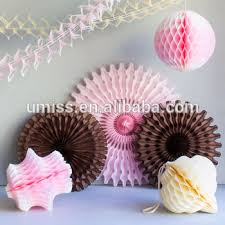 tissue paper decorations tissue paper decorations set brown light pink ivory tissue fans