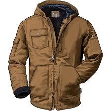 men s superior fire hose hooded work coat duluth trading