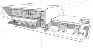 architectural drawings of modern houses interior design