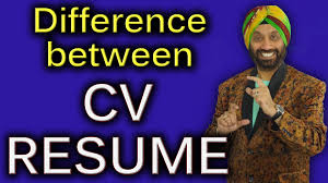 difference between cv u0026 resume how to improve english speaking