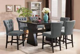 dining room tables counter height effie counter height table by acme w optional grey chairs