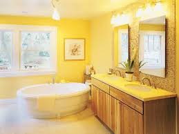 yellow bathroom paint ideas with freestanding tub yellow