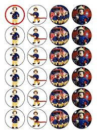 firefighter cupcake toppers 24 fireman sam cupcake toppers co uk kitchen home