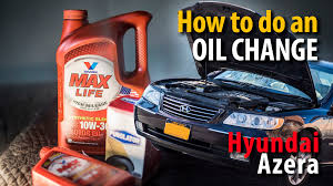 how to do an oil change on a hyundai azera 3 8l 3 3l engine youtube