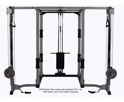 Olympic Bench Press Dimensions F430 Power Rack For Free Weights Bodycraft