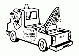 semi trailer truck coloring page for kids transportation inside