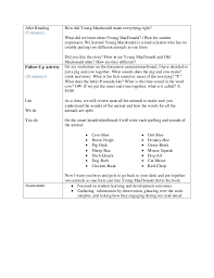 read the plan young macdonald read aloud lesson plan