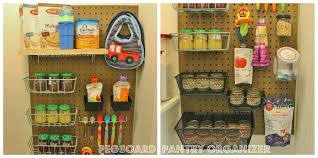 kitchen pegboard ideas diy pegboard pantry organizer