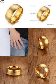 buy steel rings images Visit to buy 316l stainless steel rings boys yellow gold color jpg