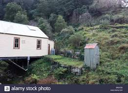 isolated country toilet walhalla victoria australia stock photo