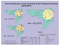 Crime Mapping Com Crime Distribution In The University Of The Philippines Diliman