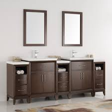 Traditional Bathroom Vanity by Fresca Cambridge 84 U2033 Antique Coffee Double Sink Traditional