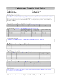 month end report template weekly project status report sle search work