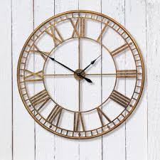 acel large round gold skeleton wall clock u2013 my beautiful salon