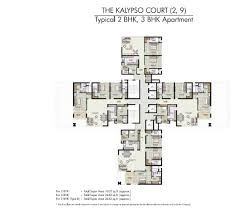 jaypee kalypso court floor plans
