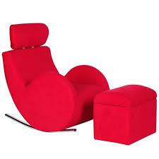 fauteuil canapé enfant canapé sofa fauteuil enfant à bascule avec tabouret de rangement