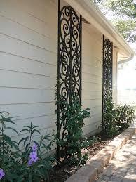 faux wrought iron custom lattice wrought iron iron and gardens