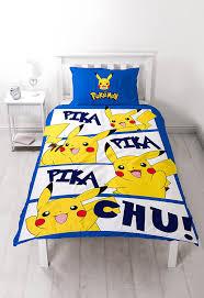 pokemon u0027action u0027 single duvet set large print design amazon co