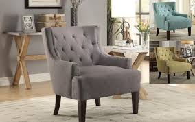 Grey Accent Chair Modern Tufted Accent Chair Alexander Kat Furniture U0026 Hardwood