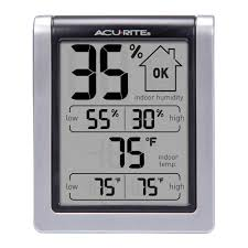 acurite digital thermometer with indoor outdoor temperature 02043