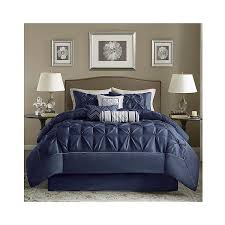 Queen Comforter On King Bed Piedmont 7 Piece Comforter Set Navy 106 Liked On Polyvore