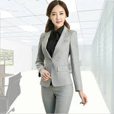 formal ladies office uniform designs women suits with pants and