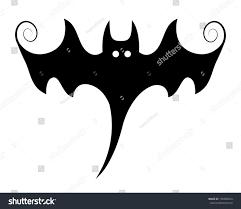 Halloween Ghost Silhouettes Stylish Bat Illustration Silhouettes Halloween Vector Stock Vector