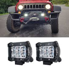 Led Work Light Bar by Led Light Bar Light Fox 2 Pack 4 U0027 U0027 Inch 18w Led Work Light Bars