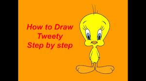 draw tweety step step