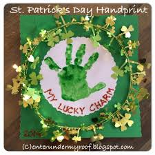 activity my lucky charm handprint craft for saint patrick u0027s day