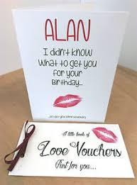 personalised birthday card husband boyfriend gift voucher