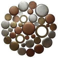 Metal Home Decorating Accents Stratton Home Decor Multi Metallic Circle Burst Wall Decor