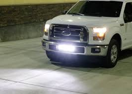 how to wire led light bar to high beam ijdmtoy 2015 up ford f 150 lower bumper led light bar install youtube