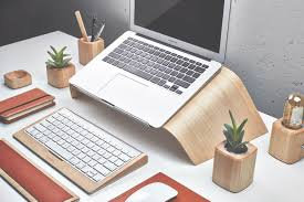 grovemade s y new laptop stand will give you wood at your desk