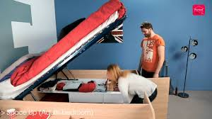 Ottoman Storage Bed Double by Parisot Space Up Double Storage Bed Youtube