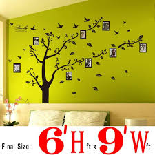 wall stickers wall decals trees photo frame butterfly birds