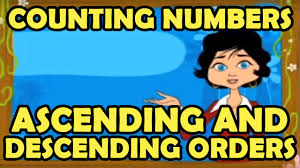 counting numbers in ascending and descending orders from kidrhymes