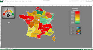 Maps France by Excel France Kpi Dashboard Premium Excel Map Template Youtube